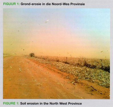 Soil erosion in the Noth West Province